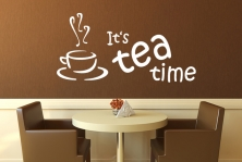"Wandtattoo ""It's tea time"""