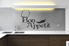 "Wandtattoo ""Bon Appetit"""