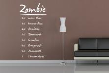 "Wandtattoo ""Zombie"""