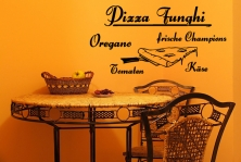 "Wandtattoo ""Pizza Funghi"""