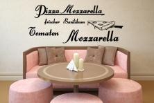 "Wandtattoo ""Pizza Mozarella"""