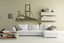 "Wandtattoo ""San Francisco"""