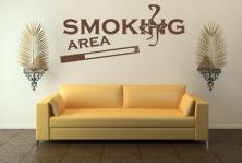 "Wandtattoo ""Smoking Area"""