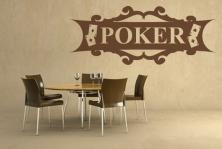 "Wandtattoo ""Poker"""