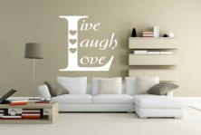 """Wandtattoo """"Live, Laugh, Love"""""""