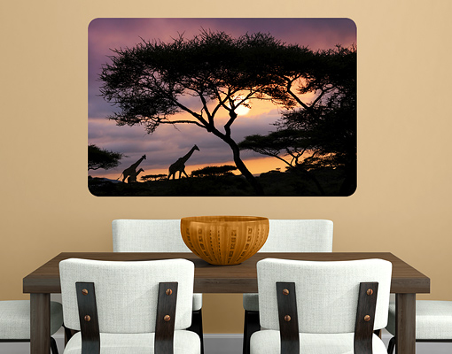 Wallprint Safari in Afrika S - 54cm x 36cm