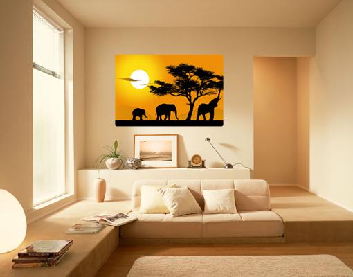 Wallprint African Elefant Walk S - 48cm x 36cm