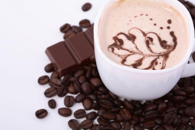 """Wallprint """"Café Tasse mit Schokolade"""""""