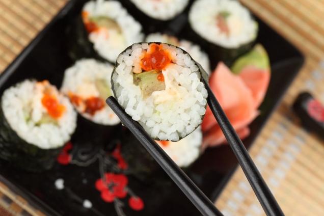 """Wallprint """"Sushi Stäbchen 3"""""""