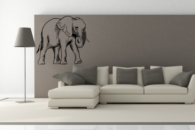 wandtattoo elefant online bei print it all kaufen. Black Bedroom Furniture Sets. Home Design Ideas