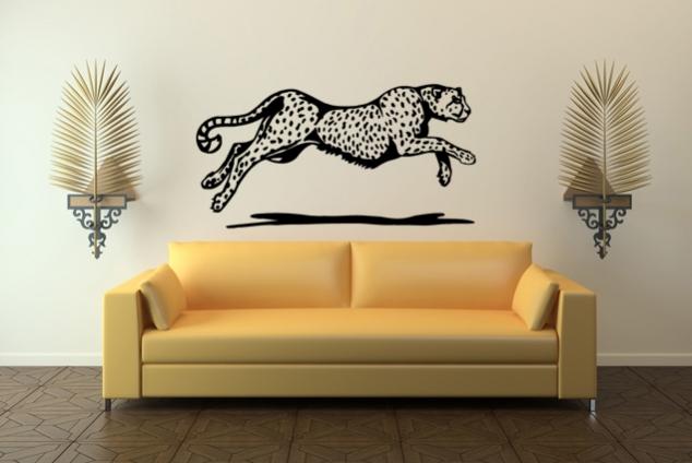 wandtattoo gepard im lauf online bei print it all kaufen. Black Bedroom Furniture Sets. Home Design Ideas