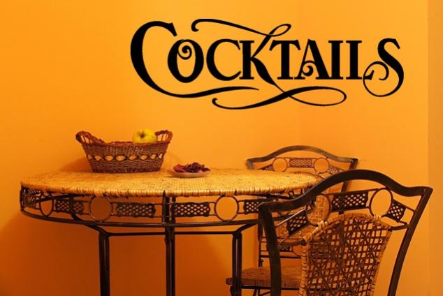 "Wandtattoo ""Cocktails"""