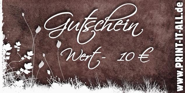 """Gutschein """"10,00€"""""""