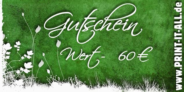 """Gutschein """"60,00€"""""""