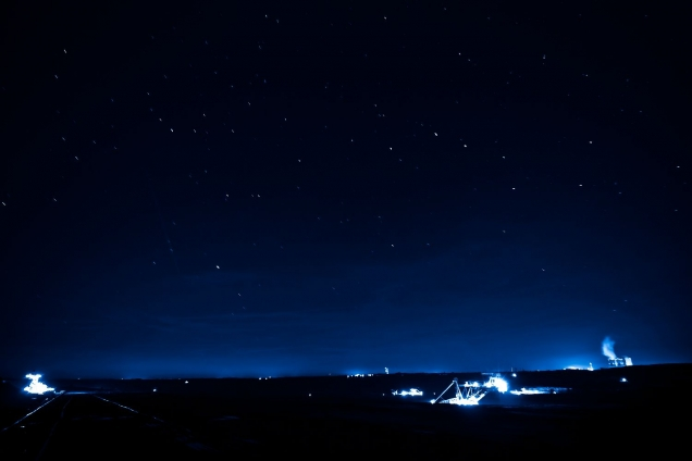"Wallprint ""blue night shadow"""