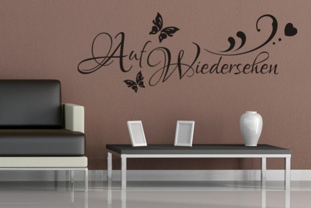 wandtattoo auf wiedersehen online bei print it all kaufen. Black Bedroom Furniture Sets. Home Design Ideas