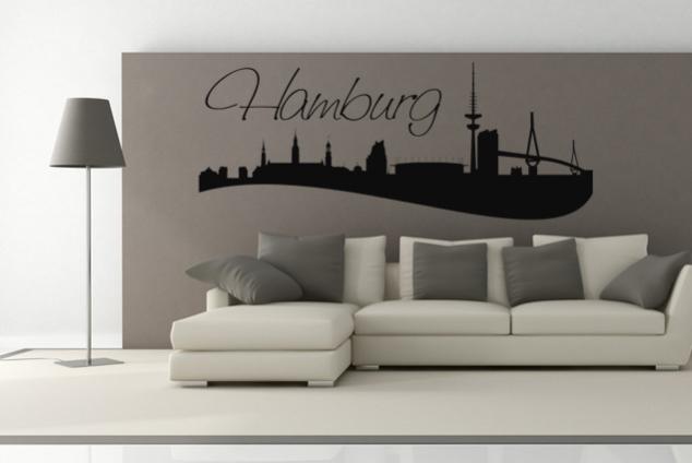 "Wandtattoo ""Skyline Hamburg"""