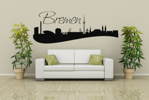 wandtattoo skyline bremen online bei print it all kaufen. Black Bedroom Furniture Sets. Home Design Ideas