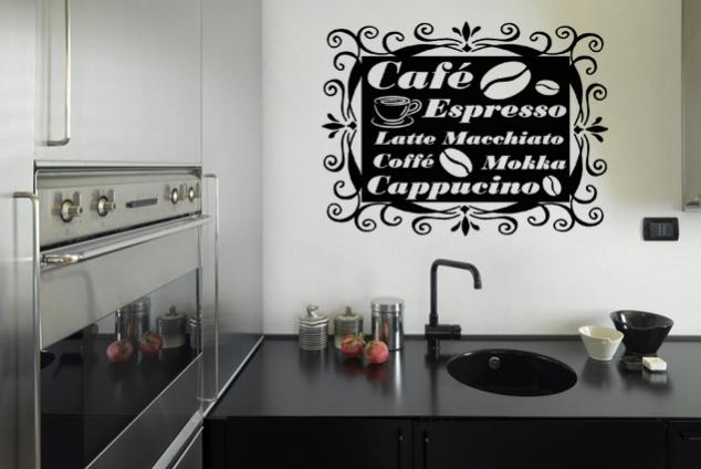 """Wandtattoo """"Café-Bordüre 3"""""""