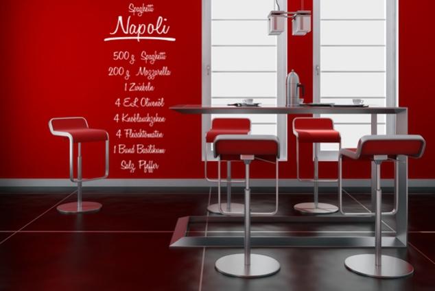 "Wandtattoo ""Spaghetti Napoli"""