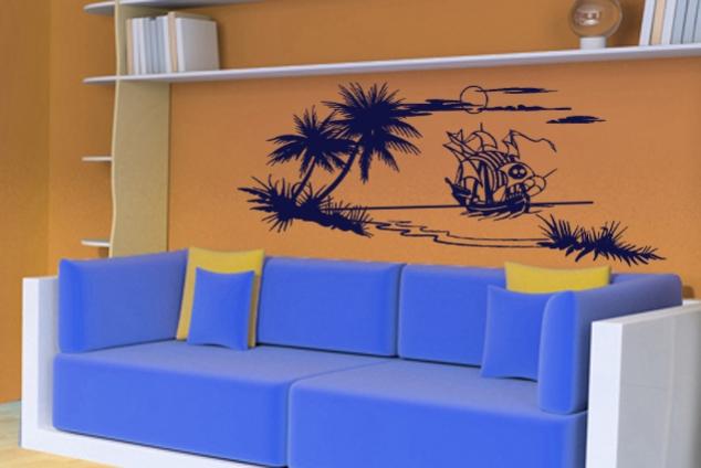 wandtattoo piratenschiff online bei print it all kaufen. Black Bedroom Furniture Sets. Home Design Ideas