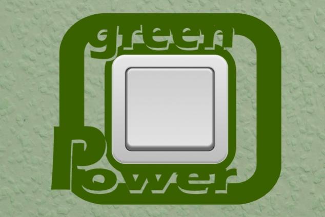 "Steckdosentattoo ""Green Power"""