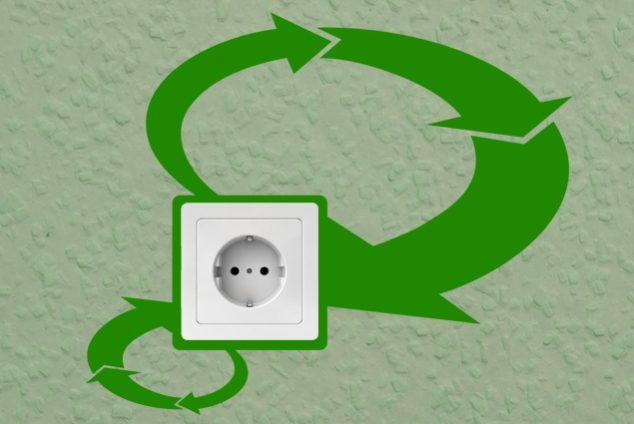 "Steckdosentattoo ""Recycling"""