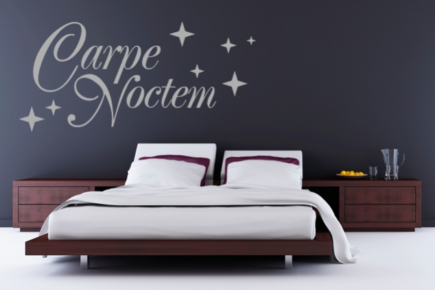 wandtattoo carpe noctem online bei print it all kaufen. Black Bedroom Furniture Sets. Home Design Ideas