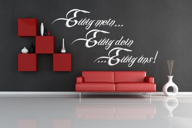 wandtattoo ewig mein ewig dein ewig uns online bei print it all kaufen. Black Bedroom Furniture Sets. Home Design Ideas