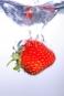 """Poster """"Erdbeere im Wasser"""""""
