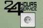 "Steckdosentattoo ""24 hours service"""