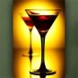 """Wallprint """"Cocktail im Scheinwerferlicht"""""""