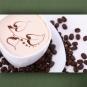 "Wallprint ""Café Tasse mit Blättern"""
