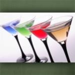 "Poster ""Vier Farben Cocktail"""