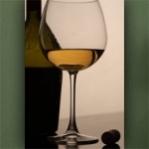 """Wallprint """"Weißwein mit Flasche"""""""