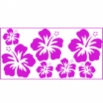 "Wandsticker ""Hibiskus 1"" - SmallPack"