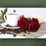 """Poster """"Café und Rosen"""""""
