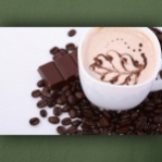 "Poster ""Café Tasse mit Schokolade"""