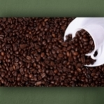 """Wallprint """"Café Bohnen Tasse"""""""