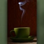 """Wallprint """"Dampfender Café"""""""