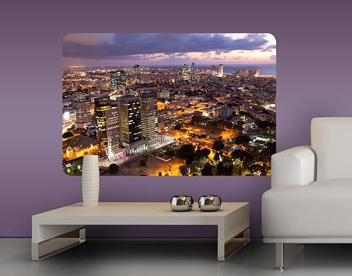 Mehrteilige Bilder Kuche : Wallprint Tel Aviv S  54cm x 36cm online bei Print It All kaufen