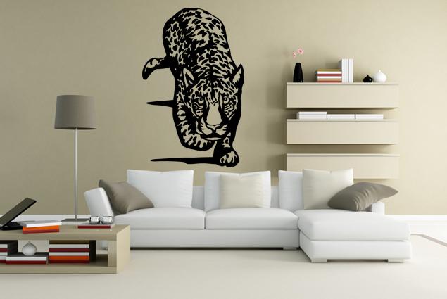 wandtattoo gepard auf der jagt online bei print it all kaufen. Black Bedroom Furniture Sets. Home Design Ideas