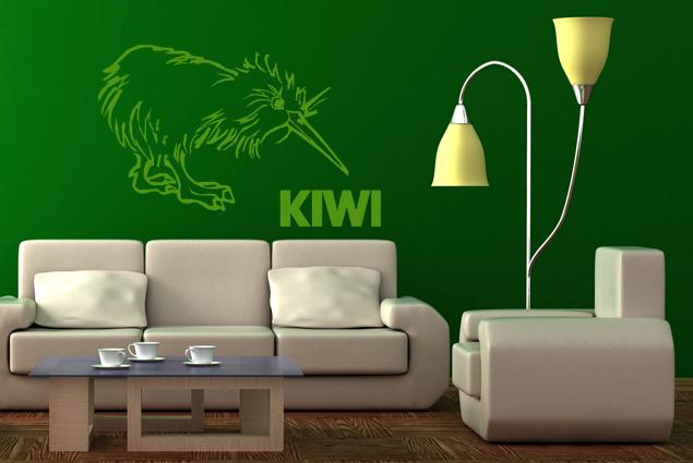 wandtattoo kiwi online bei print it all kaufen. Black Bedroom Furniture Sets. Home Design Ideas