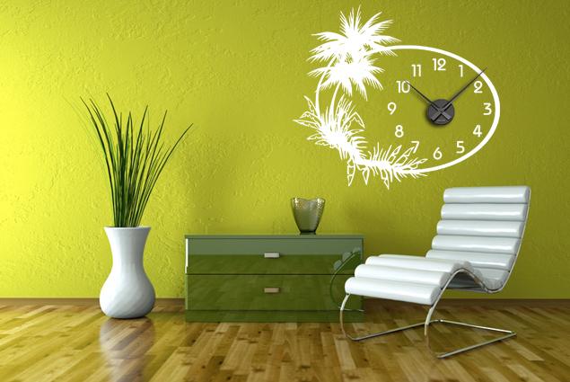 wanduhr karibik online bei print it all kaufen. Black Bedroom Furniture Sets. Home Design Ideas