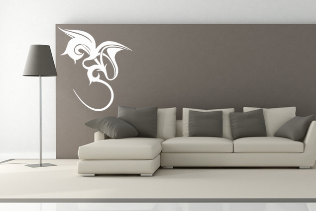 wandtattoo tribal 3 drache online bei print it all kaufen. Black Bedroom Furniture Sets. Home Design Ideas