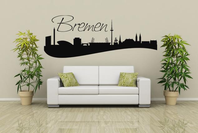 wandtattoo skyline bremen online bei print it all kaufen. Black Bedroom Furniture Sets. Home Design Ideas
