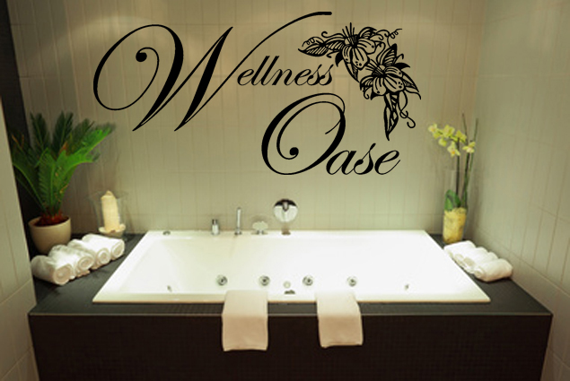 wandtattoo wellness oase online bei print it all kaufen. Black Bedroom Furniture Sets. Home Design Ideas