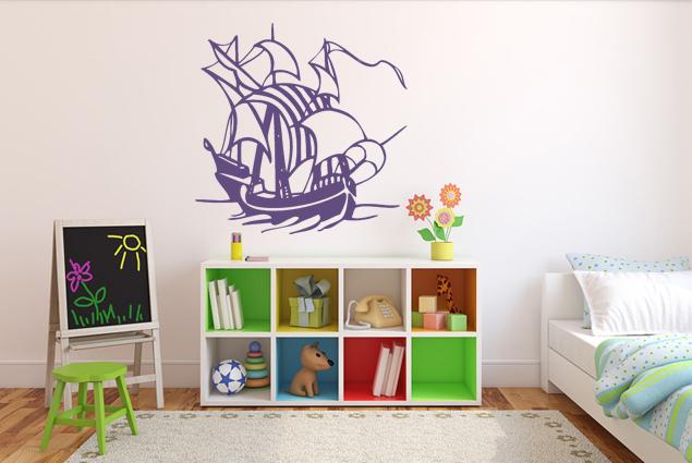 Wandtattoo schiff 1 online bei print it all kaufen for Wandtattoo teenager