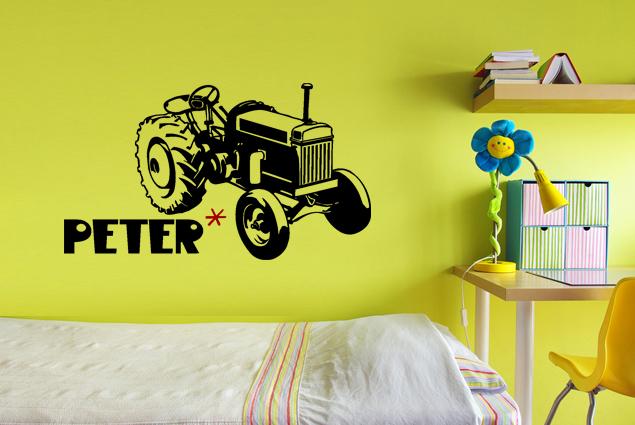 Wandtattoo traktor online bei print it all kaufen - Traktor wandtattoo ...