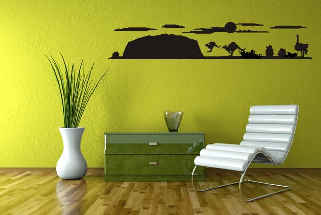 wandtattoo australien online bei print it all kaufen. Black Bedroom Furniture Sets. Home Design Ideas